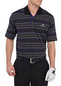PEBBLE BEACH™ Classic-Fit Poly Jersey Stripe Performance Polo Shirt