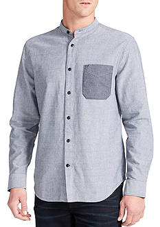 WILLIAM RAST™ Wyatt Long Sleeve Stand Collar Shirt