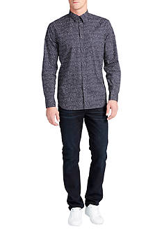 WILLIAM RAST™ Long Sleeve Gage Splatter Print Shirt