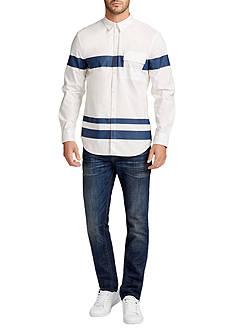 WILLIAM RAST™ Long Sleeve Blocked Stripe Baxtor Shirt