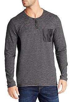 WILLIAM RAST™ Long Sleeve Lance Mixed Media Henley Shirt