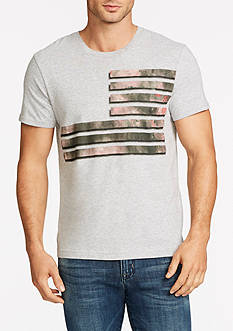 WILLIAM RAST™ Short Sleeve Flag Of Mixed Camo Graphic Tee