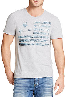 WILLIAM RAST™ Short Sleeve Washed Flag Graphic Tee