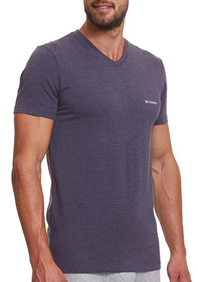 Columbia Performance Cotton Stretch V-Neck T-Shirt - 2 Pack