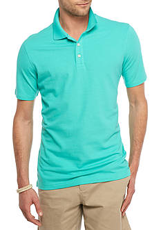 Crown & Ivy™ Short Sleeve Stretch Pique Polo Shirt