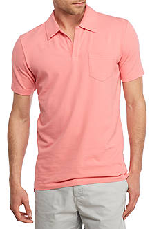 Crown & Ivy™ Short Sleeve Stretch Johnny Collar Pique Polo