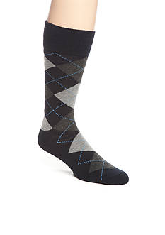 Saddlebred Argyle Crew Socks - Single Pair