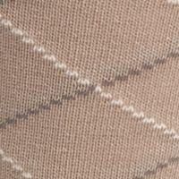 Mens Casual Socks: Khaki Saddlebred Mercerized Cotton Lattice Crew Sock - Single Pair