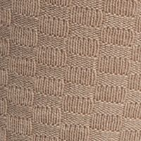 Mens Casual Socks: Khaki Saddlebred Check Textured Pattern Crew Socks - Single Pair