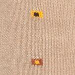 Mens Casual Socks: Khaki Saddlebred Boxed Neat Soft Touch Crew Socks - Single Pair