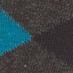 Mens Casual Socks: Gray Saddlebred Argyle Crew Socks - Single Pair