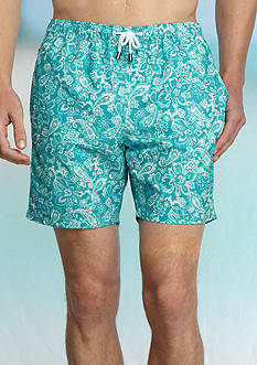 Crown & Ivy™ Paisley Swim Trunks