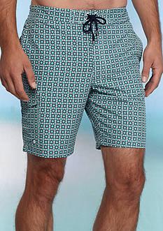 Crown & Ivy™ Geo Print Board Shorts