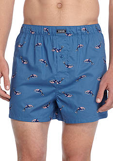 IZOD Whale Print Woven Boxers
