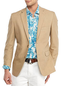 Crown & Ivy™ Tan Shantung With Self Elbow Patch Sport Coat