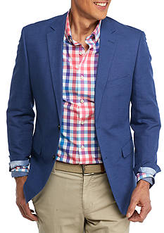 Crown & Ivy™ Blue Shantung with Self Elbow Patch Sport Coat