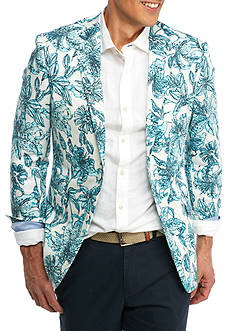 Crown & Ivy™ White Flower Print Sport Coat