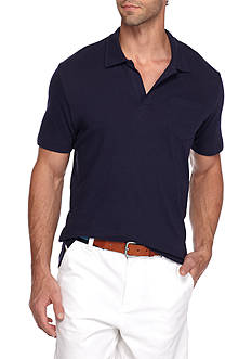 Crown & Ivy™ Short Sleeve Solid Johnny Collar Polo