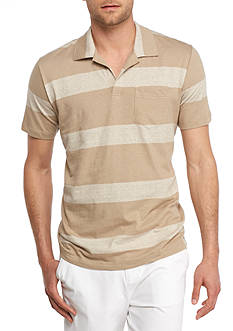 Crown & Ivy™ Short Sleeve Striped Johnny Collar Polo