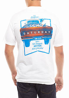 Saturday Down South® Comfort Colors We Tailgate Better Than Y'all Play Comfort Tee