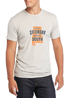 Saturday Down South Alabama State of Mind Vintage Tee
