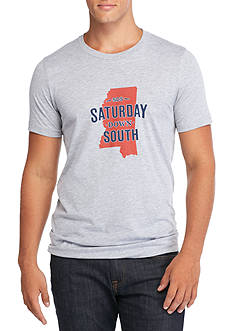 Saturday Down South Mississippi State of Mind Vintage Tee