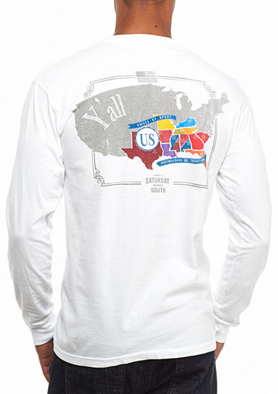 Saturday Down South® Comfort Colors Nation Long Sleeve Pocket Tee