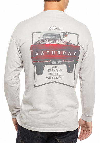 Saturday Down South® Comfort Colors We Tailgate Better Than Y'all Play Long Sleeve Pocket Tee