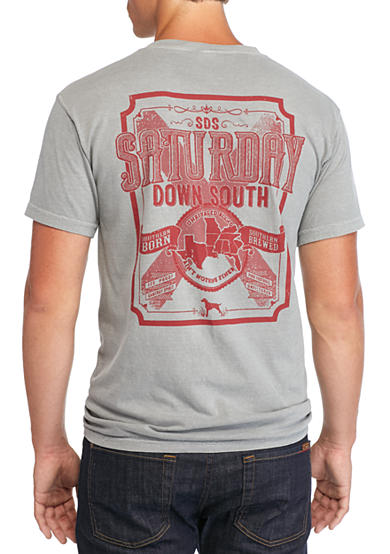Saturday Down South® Comfort Colors Bourbon Label Pocket Tee