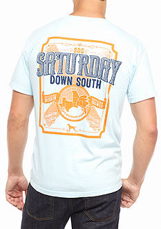 Saturday Down South Comfort Colors Bourbon Label Pocket Tee