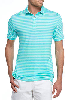 Crown & Ivy™ Short Sleeve Stripe Stretch Performance Polo Shirt