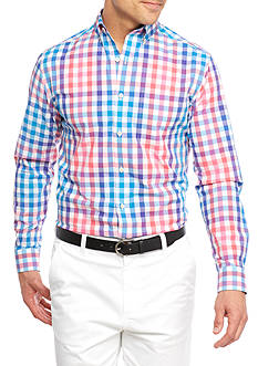 Crown & Ivy™ Long Sleeve Stretch Non-Iron Button Down Shirt