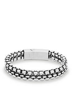 Steve Madden Silver-Tone 2-Strand Rolo Chain Bracelet