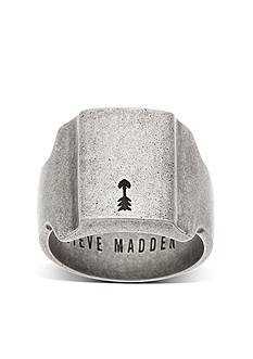 Steve Madden Silver-Tone Thick Arrow Ring