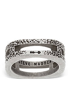 Steve Madden Silver-Tone Cut-Out Arrow Ring