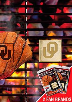Fanmats NCAA Oklahoma Sooners Grilling Fan Brand 2-Pack