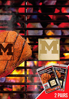 Fanmats NCAA Michigan Wolverines Grilling Fan Brand 2-Pack