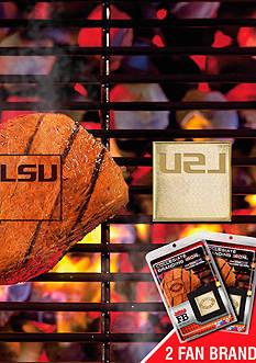 Fanmats NCAA LSU Tigers Grilling Fan Brand 2-Pack