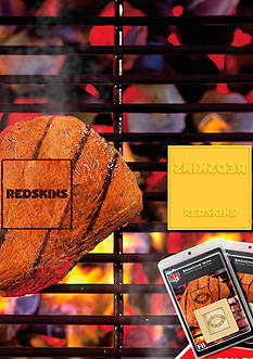 Fanmats NFL Wahington Redskins Grilling Fan Brand 2-Pack