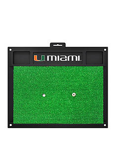 Fanmats NCAA University of Miami Hurricanes Golf Hitting Mat