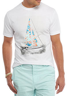 Crown & Ivy™ Short Sleeve Sailboat Graphic Tee