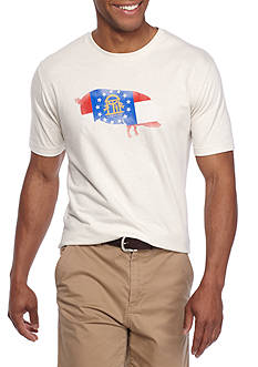 Crown & Ivy™ Short Sleeve Georgia Flag Graphic Tee
