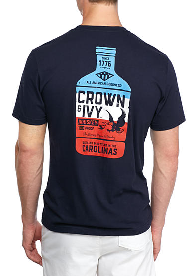 Crown & Ivy™ Short Sleeve Carolina Whiskey Graphic Tee