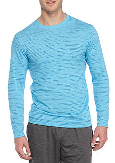 SB Tech® Long Sleeve Cotton Touch Stripe Tee Shirt