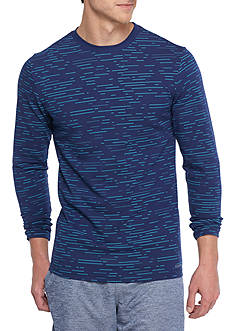 SB Tech Long Sleeve Stretch Cotton Touch Stripe T-Shirt