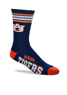 FBF Originals Auburn Tigers 4 Stripe Deuce Performance Crew Socks - Single Pair