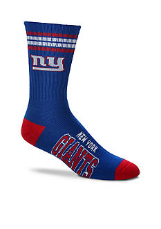 FBF Originals New York Giants Striped Deuce Performance Crew Socks - Single Pair