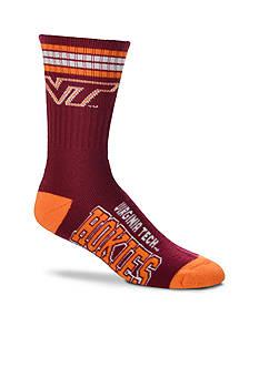 FBF Originals Virginia Tech Hokies 4 Stripe Deuce Performance Crew Socks - Single Pair