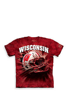 The Mountain Wisconsin Badgers Breakthrough Helmet T-Shirt