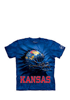 The Mountain Kansas Jayhawks Breakthrough Helmet T-Shirt